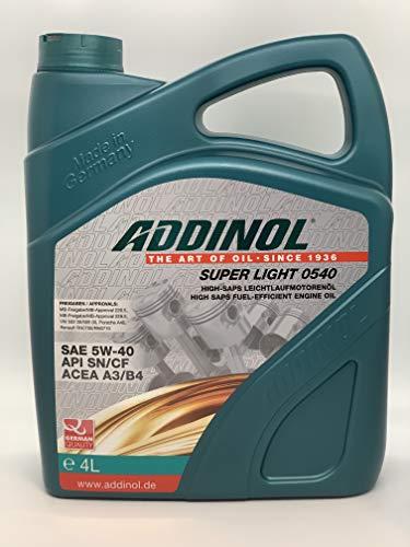 ADDINOL SUPER LIGHT 5W-40 A3/B4 Motorenöl, 4 Liter