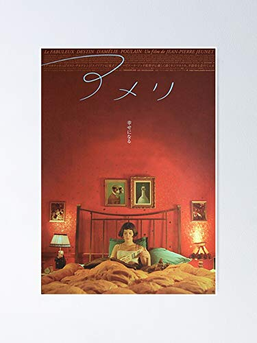 """Japanese Amelie Poster 12.75"""" X 17"""" Inch No Frame Board for Office Decor, Best Gift Dad Mom Grandmother and Your Friends"""