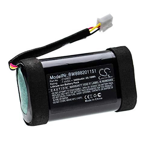 vhbw Akku Ersatz für Bang und Olufsen C129D3 für Lautsprecher Boxen Speaker (3400mAh, 7,4V, Li-Ion)