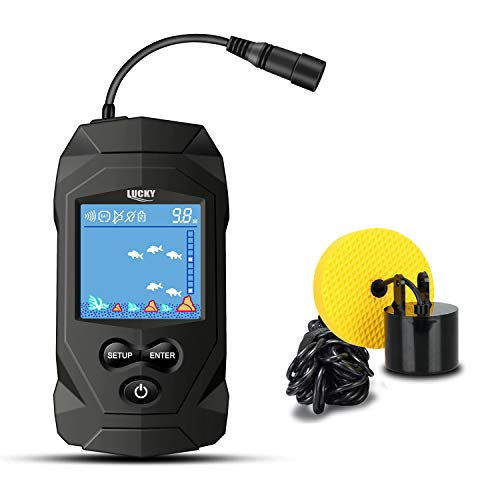 LUCKY Portable Fish Finder with Sonar Transducer
