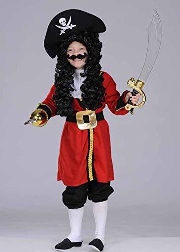 Disfraz de Pirata Rojo Estilo Capitán Garfio para niños XL (11-13 Years)
