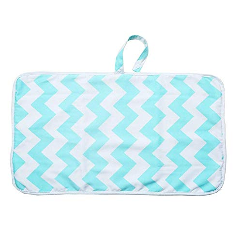 Portable Nappy Change Mat, Waterproof Foldable Diaper Changing Pad Infant Cotton Urinal Mat for Home Travel Outside