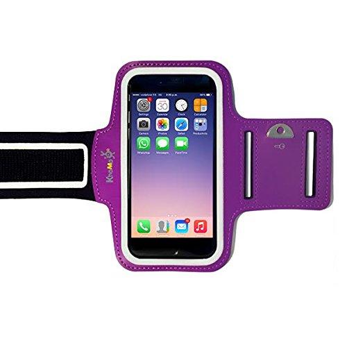 KHOMO Funda Brazalete Deportivo para iPhone 6 7 8 X XS - Púrpura Violeta Morada