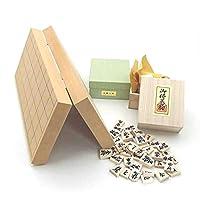将棋セット 新桂10号折将棋盤と白椿上彫駒のセット