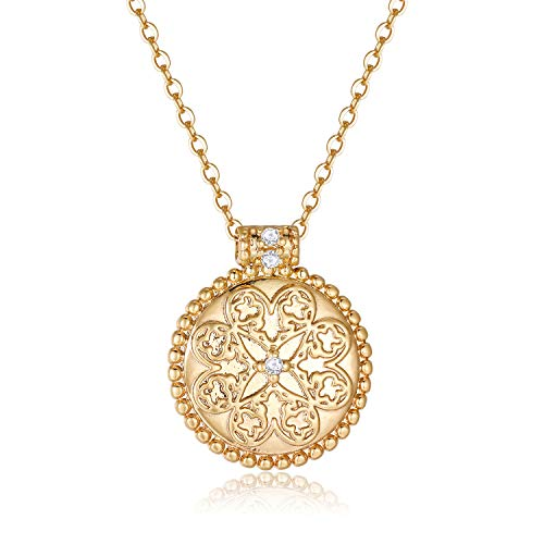 Obidos Gold Coin Necklace for Women | Gold Necklaces for Women | 14k Gold...