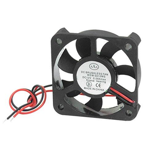 DC 12V 0.09A Negro ventilador de 50 mm x 50 mm x 11 mm para la caja de la PC
