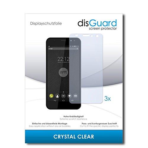 disGuard® Bildschirmschutzfolie [Crystal Clear] kompatibel mit Shift Shift5+ [3 Stück] Kristallklar, Transparent, Unsichtbar, Extrem Kratzfest, Anti-Fingerabdruck - Panzerglas Folie, Schutzfolie