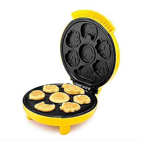 YFGQBCP Multi-Funcional waflera, Control automático de Temperatura Totalmente Sandwich máquina de Dibujos Animados Desayuno Bollos al Horno Pan Desayuno Huevos de automático Mini Niños
