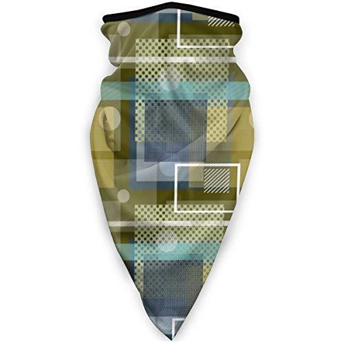 NA Magic Headwear Couvre-chef en forme de carrés à rayures et cercles Doré Marron Bleu sarcelle
