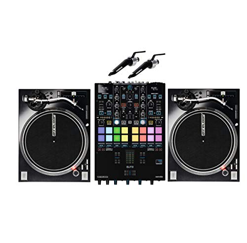 Find Discount Reloop ELITE Two Channel Serato DJ Pro Mixer Bundle W/RP-7000mk2 and Needles