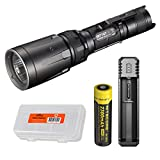 Nitecore SRT7GT 1000 Lumens Smart Ring Tactical Flashlight with Red/Blue/Green/UV LEDs - Smart Charger Set and LumenTac Battery Organizer