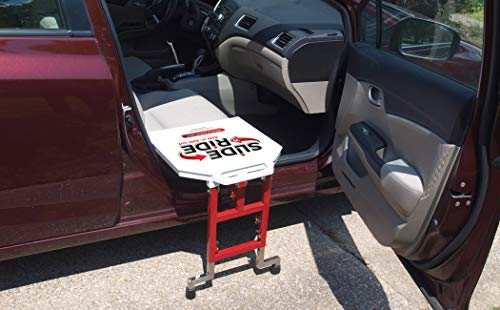 Slide 'n Ride® Vehicle Assist Easy Transfer Seat/Board/Device 500lb. Rated-Adjustable, Folding, Safe, Compact and Lightweight - Important: Does NOT FIT Every Vehicle (See Measurement Guide Photo)