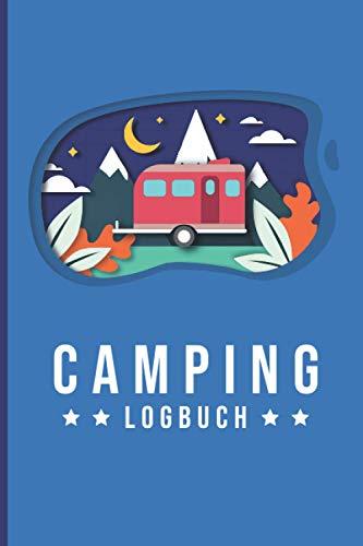 Camping Logbuch: Wohnmobil oder Wohnwagen Urlaub - Reisetagebuch für Van, Caravan und Camper - Journal für Reisemobil und Zelt - Europa USA Kanada Karte - 100 Seiten ~A5 Taschenbuch