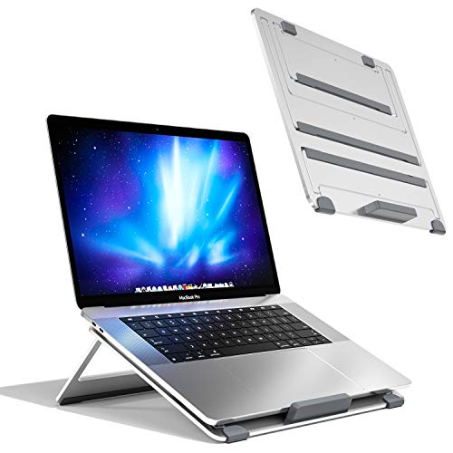 Newaner Support Ordinateur Portable Pliable Aluminum, réglable en Hauteur, Rehausseur Laptop Compatible avec Notebook(10-17Pouce) Y Compris MacBook Pro/Air Surface Lenovo HP ASUS Acer Dell MSI