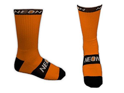 neon - Calcetines Altos de Deporte - Naranja - 40-44