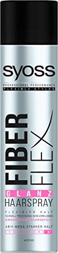 Syoss Fiber Flex Glanz Haarspray, 6er Pack (6 x 400 ml)