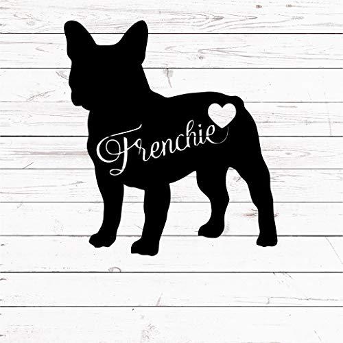 6 inches French Bulldog Decal Sticker - French Bulldog Mom Frenchie - Dog Pet Decal Sticker for Laptop MacBook Yeti Tumbler Car Truck Window FRB12