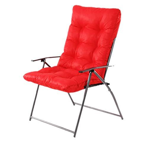 WXL Silla de Oficina Silla Plegable Oficina en casa Sillón reclinable Silla para computadora Sofá con Respaldo Perezoso Sofá Perezoso Silla de Escritorio (Color : Red)