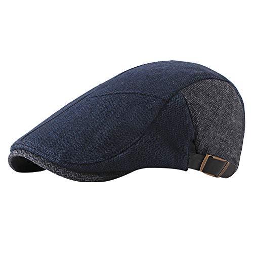 Gysad Sombrero Hombre Diseño de Empalme Boina Hombre Cálido y Confor