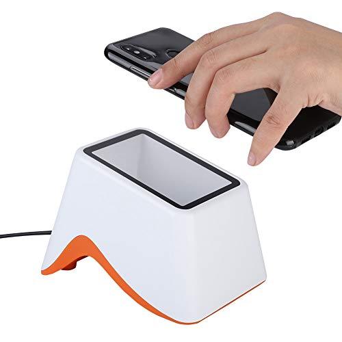 01 Escáner De Código QR Inalámbrico,Plataforma De Escaneo De Pagos 2D,Mini Escáner Código Barras,Lector De Códigos USB,Lector De Decodificador Cuadrado Automático,para PC,Alipay,WeChat Mobile Payment