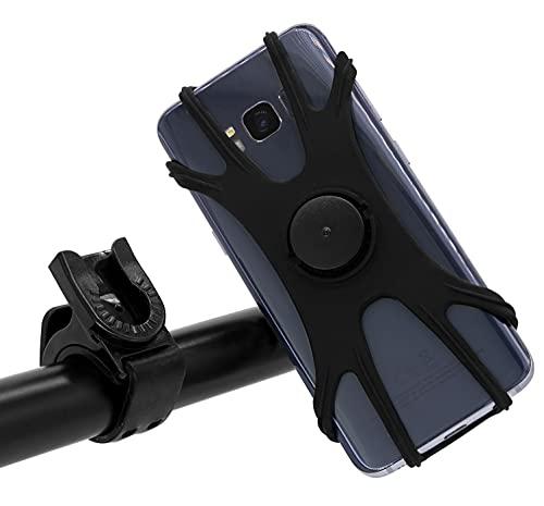 MyGadget Soporte Móvil para Bicicleta - Porta Teléfono en Silicona para Smartphone 4 - 7,1 ' para Manillar Bici Motocicleta Ciclismo - Rotación 360°