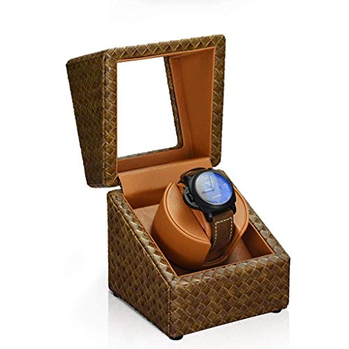 DHTOMC Automatic Watch Winder Watch Winder Shaker Mechanical Watch Mini Watch Box Watch Winder Automatic Turntable Import Watch Storage Box (Color : Red) (Color : Red) Xping (Color : Brown)
