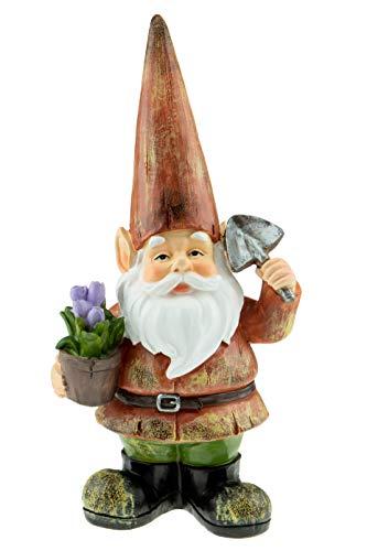 Clever Creations - Gartenzwerg - witzige Deko für den Rasen, das Zuhause, den Garten oder im Büro - Gartenzwerg in Gärtner-Optik