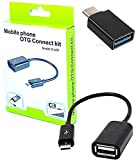 BLAXSTOC Combo Offer of Type-C & V8 OTG ADAPTORS for Connecting Keyboard, Mouse, PENDRIVE and Many More USB Enable Device to Android MOBILES VIA OTG (Pack of Type-C OTG Adaptor & V8 OTG Cable)