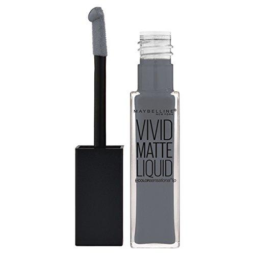 Maybelline Color Sensational Vivid Matte Liquid - 55 Sinful Stone - Lipstick barra de labios Gris Mate - Barras de labios (Gris, Sinful Stone, #616468, Mate, 17 mm, 17 mm)