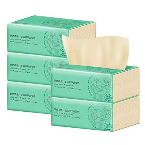 Tejidos faciales CAJA PLANTE BAJA, LOG SOFT 3-PLY TEJIDO FAFERA (5 PAQUETES), 240 tejidos por paquete (1200 tejidos en total) Papel higiénico for el hogar, toallas de papel suaves y amigables con la