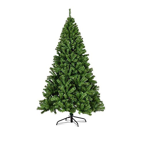 General Packaging Classic Xmas Tree Realistic Natural Branches Green Christmas Tree [5FT/6FT/7FT/8FT/10FT] (8FT (240cm))