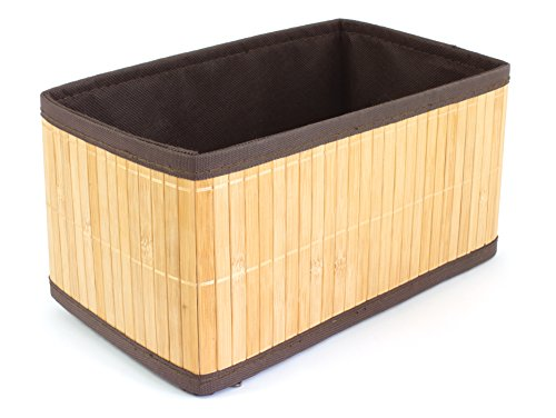 GELCO Design Papangue Boite de Rangement, Bambou, Naturel, 26 x 15 x 13.5 cm