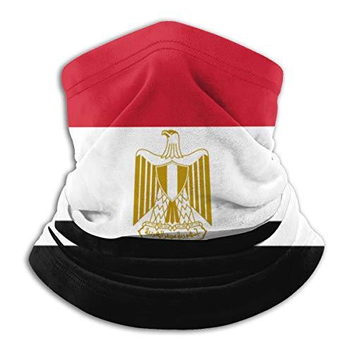 MISSBIE Egypt Egyptian Flag Neck Gaiter Headwear Sun Mask Headband Balaclava Neck Warmer Scarf Half Face Cover Black