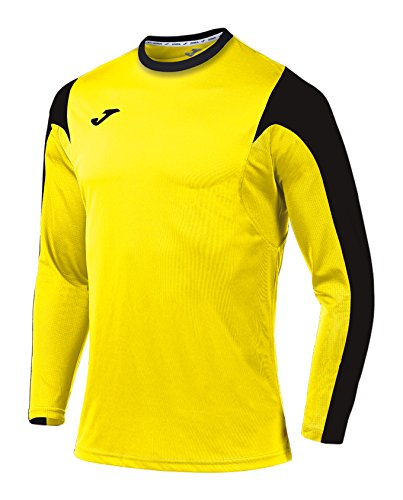Joma Estadio Camiseta de Juego Manga Larga, Hombre, Multicolor (amarillo/negro), XS