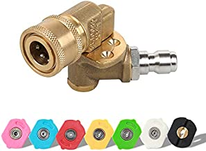 Atmozon Pressure Washer Tips Nozzles,Pressure Washer Accessories Kit,Quick Connecting Pivoting Adapter Coupler with 5 Rotation Angles,1/4 Inch,3.0GPM,8 Pack