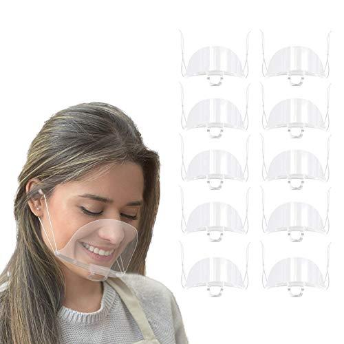 ANEAR 10 Uds protector bucal ajustable para restaurante Hotel Hospital camión protector de saliva cubierta protectora de película transparente para salón de belleza