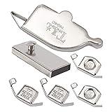 GORGECRAFT 6 piezas de guía de costura magnética...