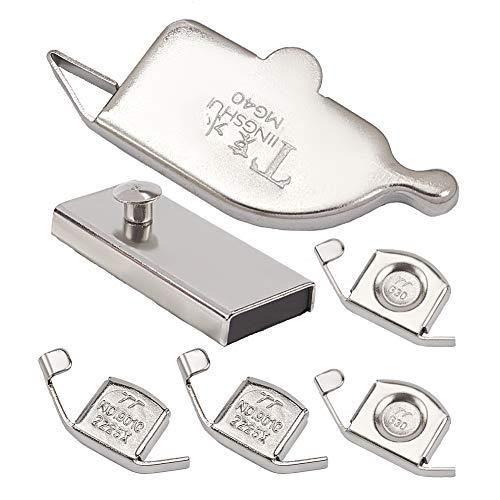 GORGECRAFT 6 piezas de guía de costura magnética guía de costura para la mayoría de máquinas de coser accesorios de pie (G20S, G30, MG1, MG40)
