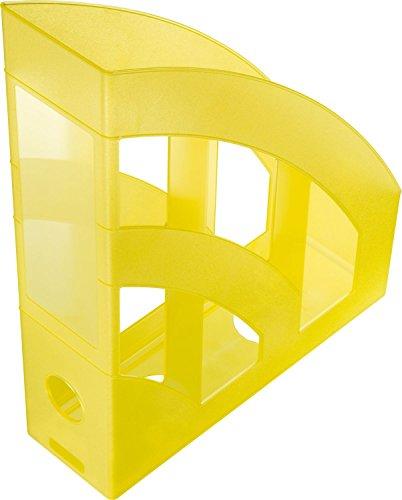 helit h2361011Portariviste Economy, DIN A4–C4, Plastica, Giallo/Traslucido