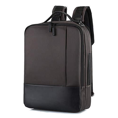 Backpack Bag Fashion Men School Office Laptop Bag Soft With Usb Charging Port Zipper Waterproof Anti-Theft Casual Backpack Coffee