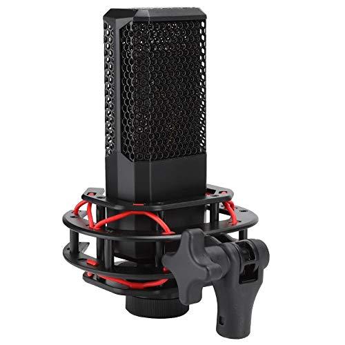420Pro Professional Aufnahmemikrofon, 16 mm vergoldetes Filmmikrofon, Absturzsicherung, keine Verformung, eingebauter Hochleistungsfilter, für Computer, Soundkarten, Aufnahme, Lve Broadcast usw.