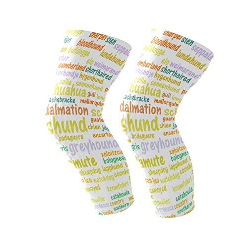 COOSUN Alle soorten honden knie beugel, knie compressie sleeve ondersteuning voor hardlopen, artritis, meniscus scheuren, sport, gewrichtspijn verlichting en letsel herstel