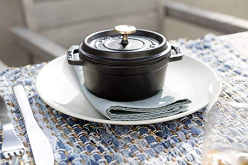 staubストウブ「ミニピコココットラウンドブラック10cm」小さい両手鋳物ホーロー鍋【日本正規販売品】LaCocotteRound40500-101