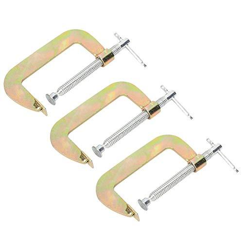 3 pezzi C Morsetto Set Heavy Duty G Morsetto Lavorazione del legno Saldatura Hand Grip Holder Strumento per carpentiere(2 inch)