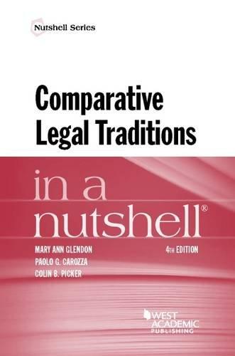 Comparative Legal Traditions in a Nutshell (Nutshells)