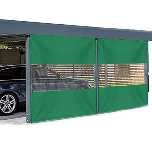 LSXIAO Al Aire Libre Cortinas Transparente PVC Empalme Lona Impermeable A Prueba De Viento Anti-UV con Ojal Y Gancho De Metal para Garajes, Pérgola, Terraza (Color : Clear Green, Size : 1x2.5m)