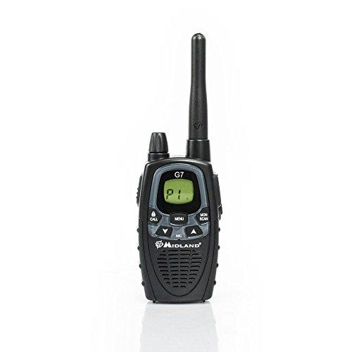 Midland G7 XTR PMR446 Single Walkie-Talkie, Nero