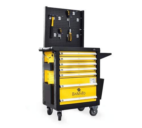 BAMATO Premium Werkstattwagen/WORK-550 * 348-teiliges Werkzeug aus CrV-Stahl*, 7 große und abschließbare Schubladen