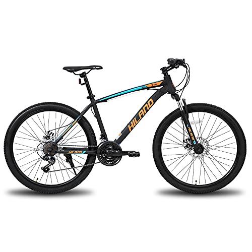 Hiland Bicicleta de montaña de 26/27,5 pulgadas, con cuadro