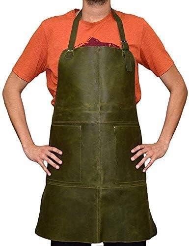 Tuzech Durable Leather Apron Adjustable Chef Max 62% OFF Handmade Cheap sale Heavy Duty